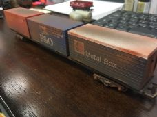 Hornby Container Wagon Weathered - OO Gauge